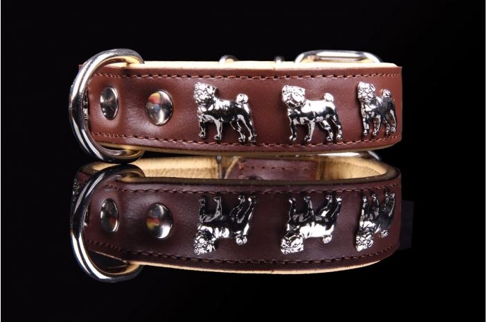 Leather Pug Collar